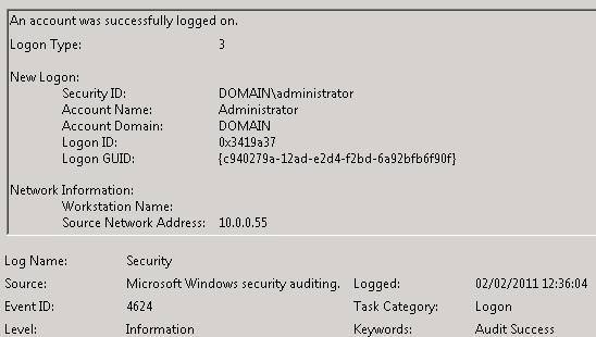 active directory user logon time and date