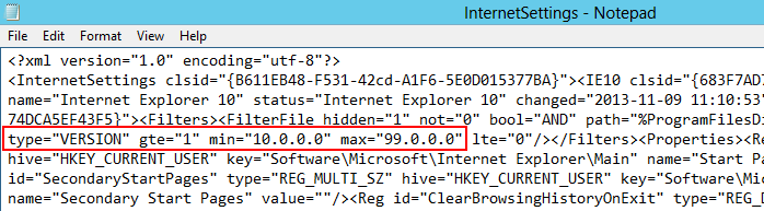 IE10 GPP Internet Settings