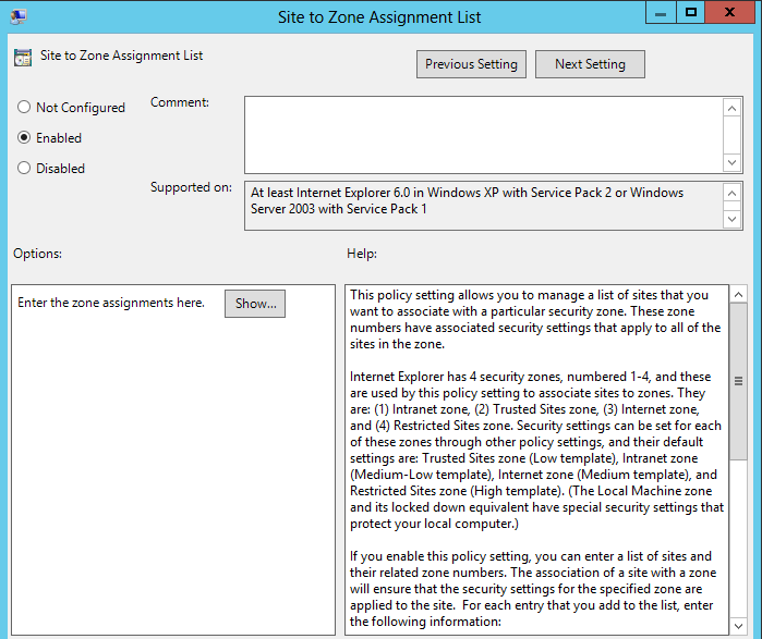 Group Policy - Internet Explorer Security Zones - The Sysadmins