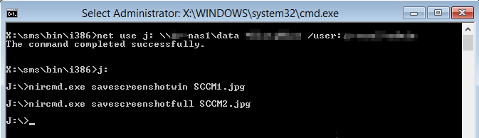 Map drive in SCCM WinPE Command Console