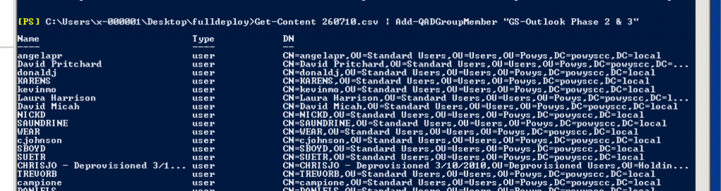 Bulk Add Users to an AD Security Group from a CSV - The